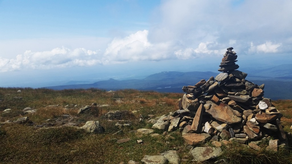 Cairn on the south side of Mt. Moosilauke summit