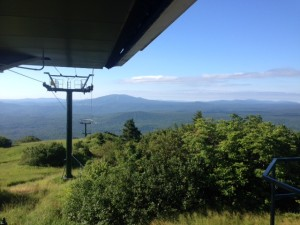 The view from Bromley Ski Mountain