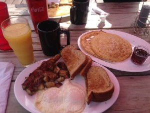 Breakfast at the Whistlestop Diner