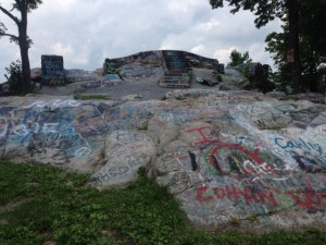 High Rock, in all its spray painted glory.