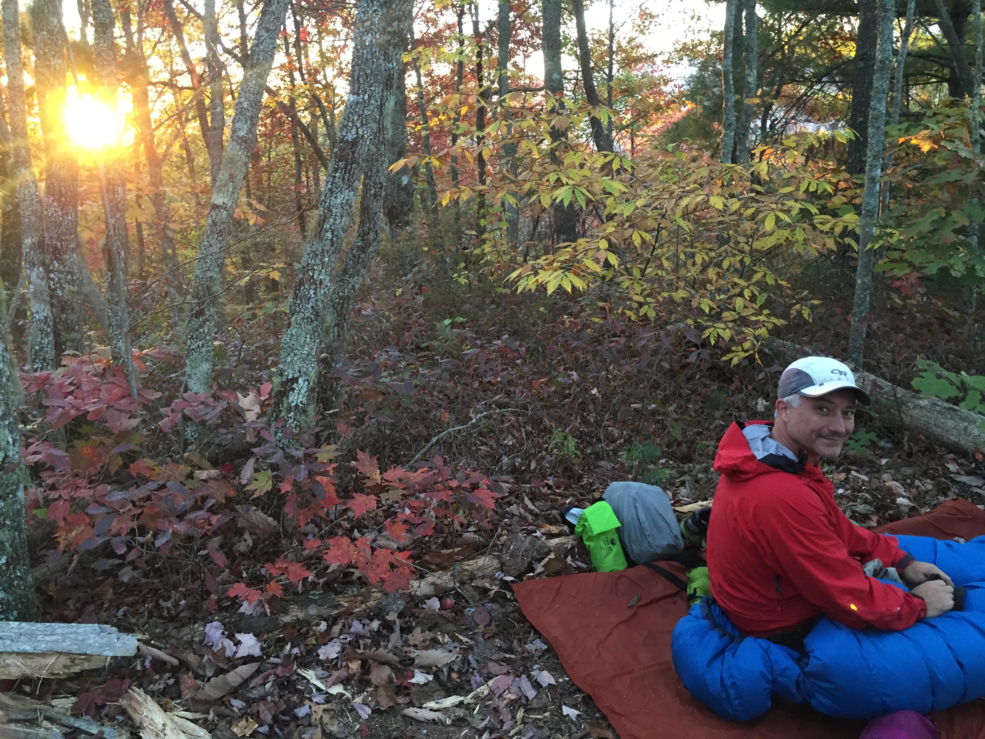 Cowboy Camping in October.