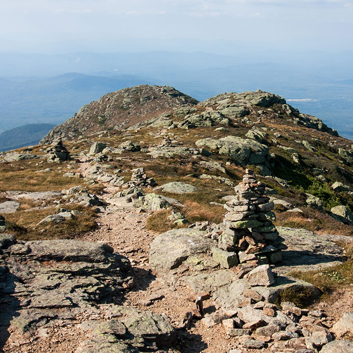 A typical rock cairn as seen in the White Mountains.