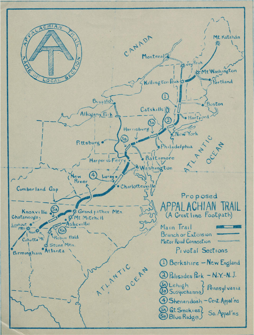Appalachian Trail New England Map.How To Thru Hike The Appalachian Trail A 101 Guide