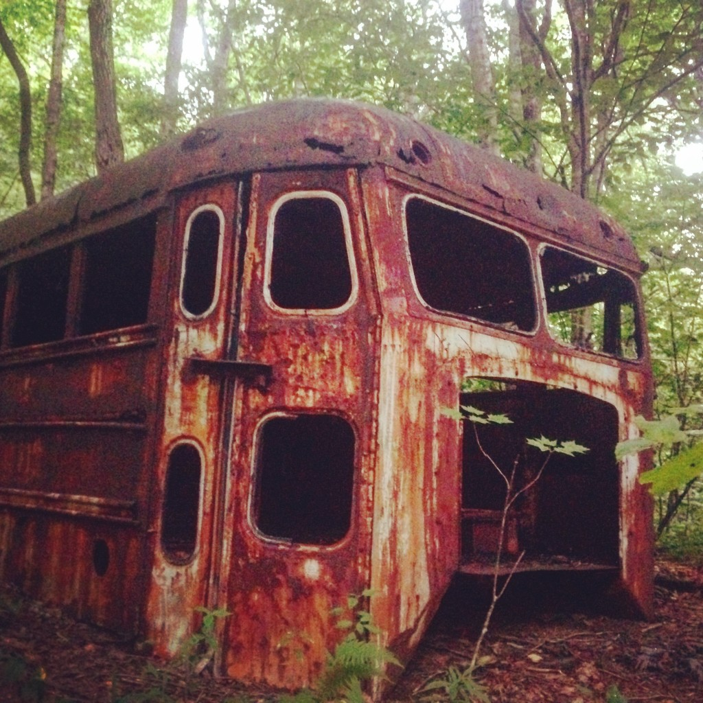 This old bus was at a campsite we used on my very first shift as a field instructor for SN. We were camped very near Deep Gap, off the AT in North Carolina.