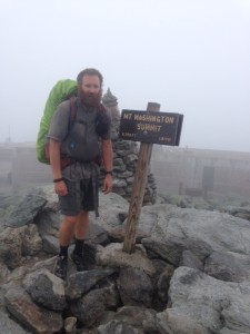 Cold and wet at the summit of Mt. Washington