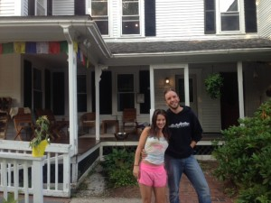 Serena and Justin, owners of the Notch Hostel.