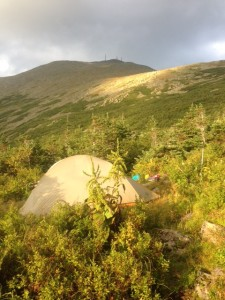 Our stealth site below Mt. Washington
