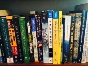 A snapshot of my bookshelf.