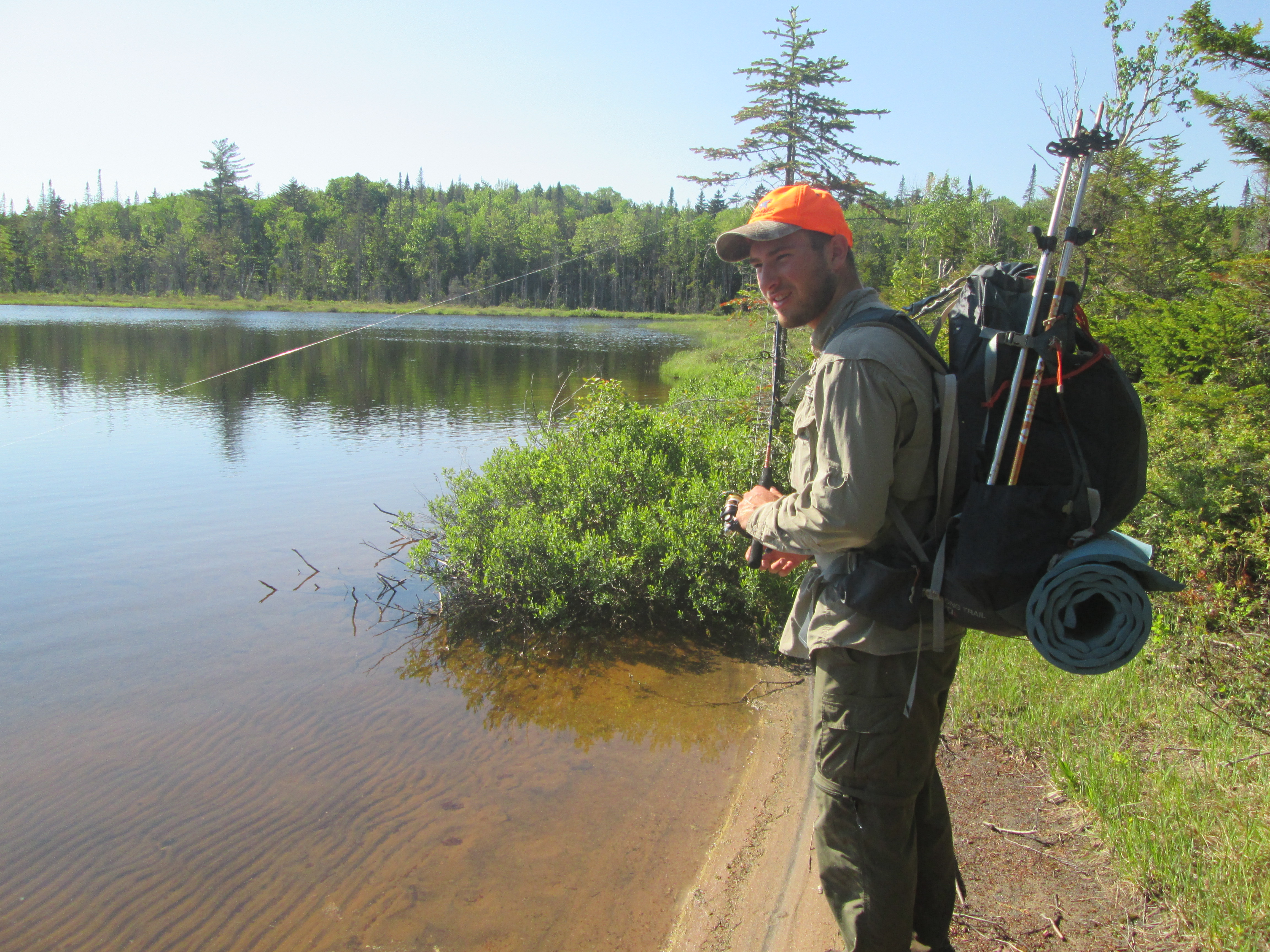 Fishing at West Canada Lakes