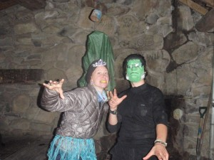 While I wore my down puffy all the time when it was cold in camp, this is the only pic of me in it - on Halloween in the Smokies