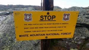 Mt.Washington warning