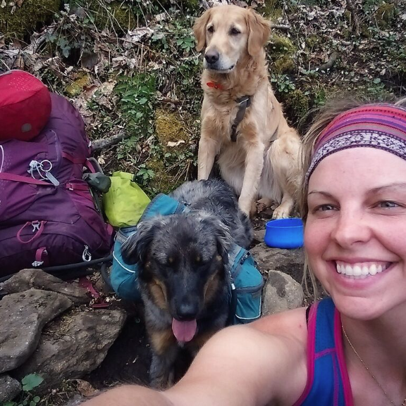 appalachian trail with dog maija