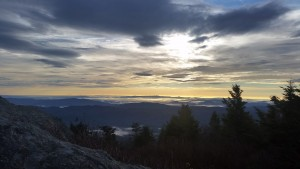 black mountain crest sunrise