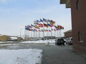 Flags in Kabul, Afghanistan