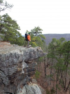 Andrew at Pedestal Rocks, Arkansas