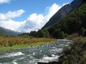 The Greenstone River flowing through the valley of the same name.