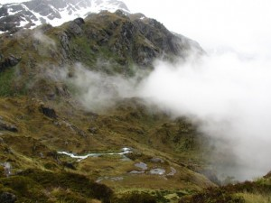 Descending from Harris Saddle.