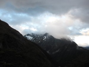 Late afternoon view from the Routeburn Falls Hut.