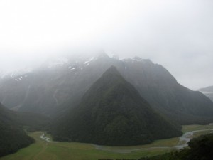 The view above the Routeburn Flats.