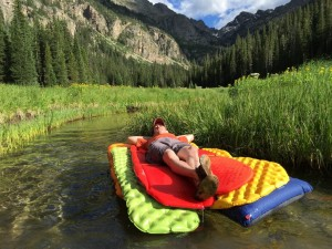 You just HAVE to see if your sleeping pad will make a good floaty, right?!