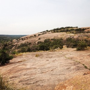 A view of Enchanted Rock
