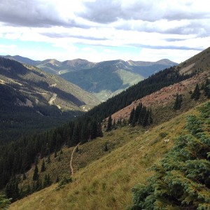A view from halfway to the Wheeler Peak summit