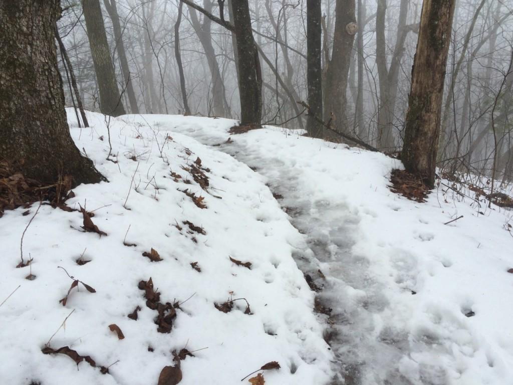 Snowy, slushy trail in GA Jim Fetig
