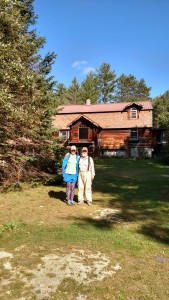 Photo of me with Loon in front of The Cabin