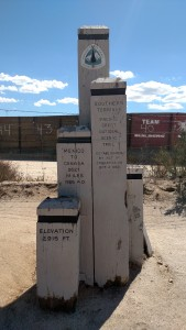 PCT Southern terminus. They've since replaced the monument.