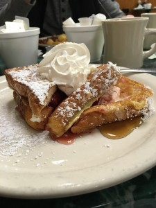 Stuffed French Toast at Clary's in Savannah, Georgia