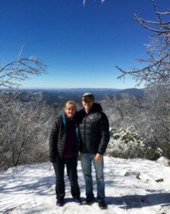 Top of Springer Mountain Georgia