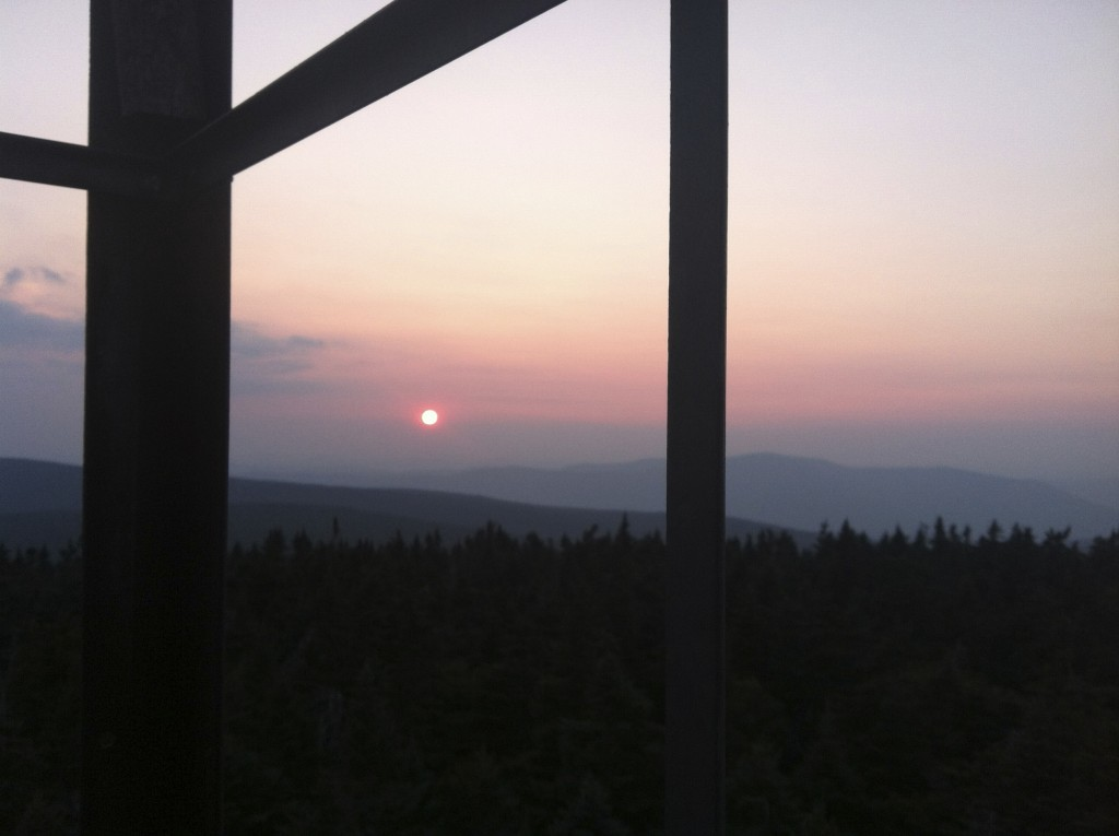 Sunset from the Glastenbury fire tower