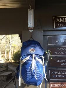 Weighing in at Amicalola Falls