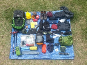 Everything on the Tarp is included in the gear list. Minus the Tarp.