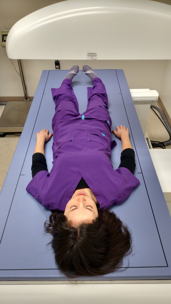 DXA scan to determine body composition