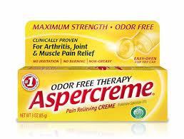 Aspercreme massage! (image courtesy of aspercreme.com)