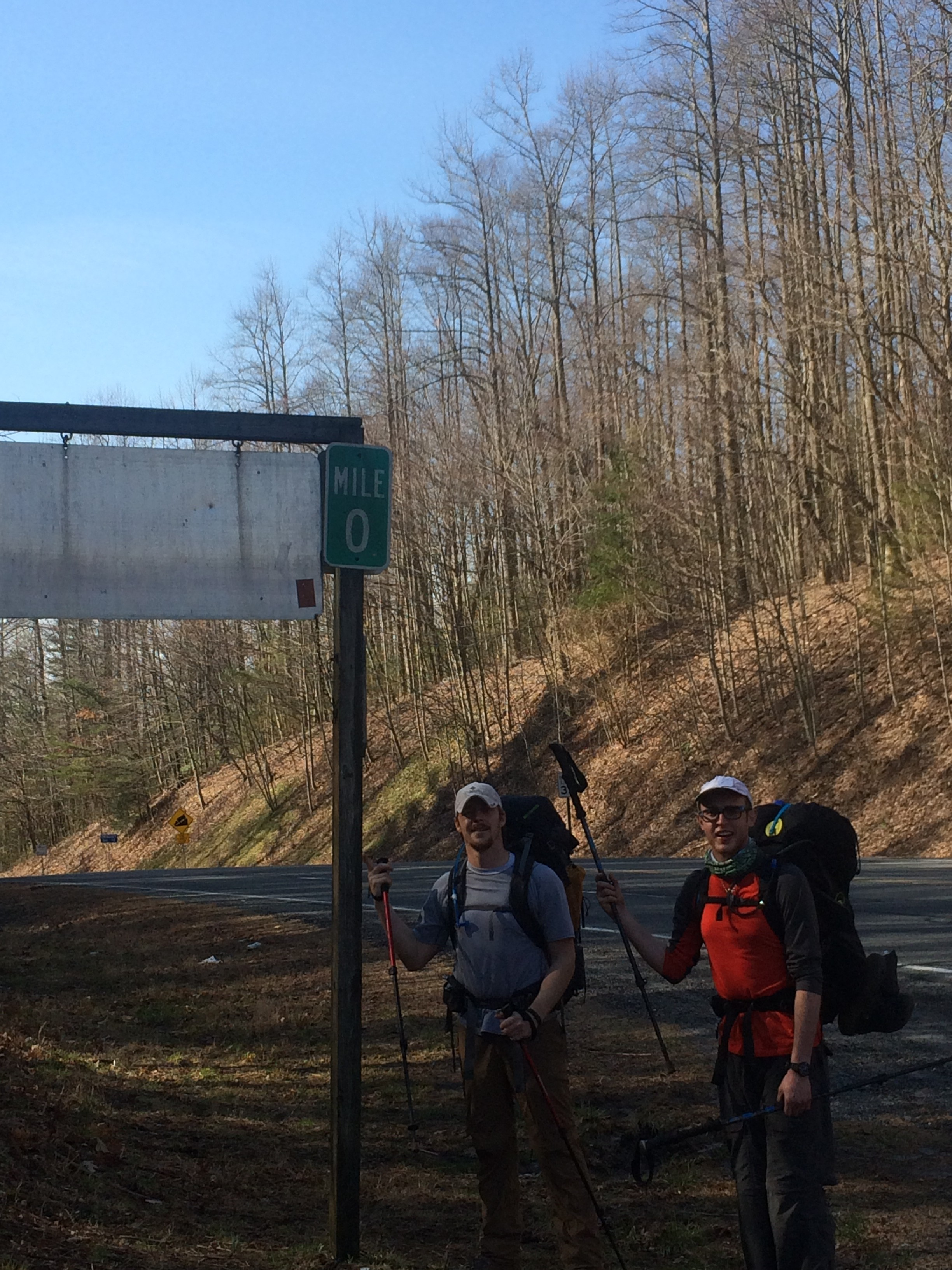 Jared and I (yes another Jared) found this sign for mile 0 to be quite confusing!