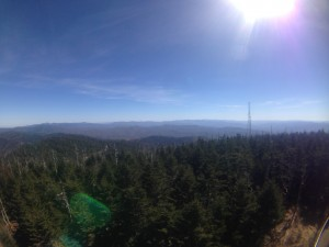 The view from Clingmans Dome!