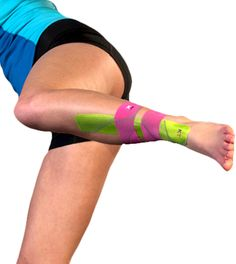 Kinesio tape allegedly can help with shin splints Image courtesy of kttape.com