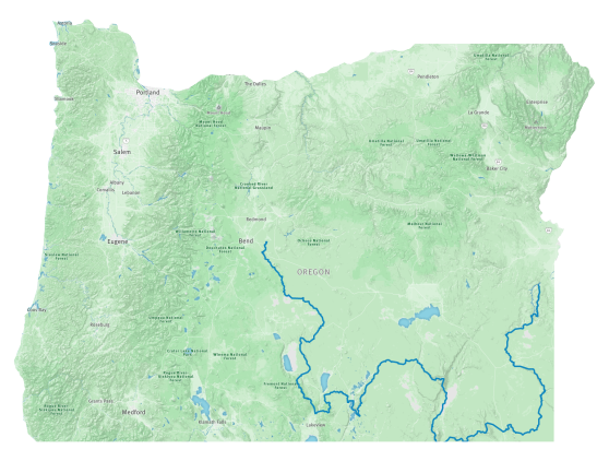 Map of the Oregon Desert Trail