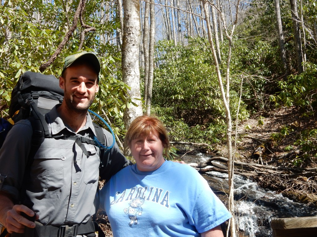 Aunt Trish came to visit and hiked part of the trail on her spring break.