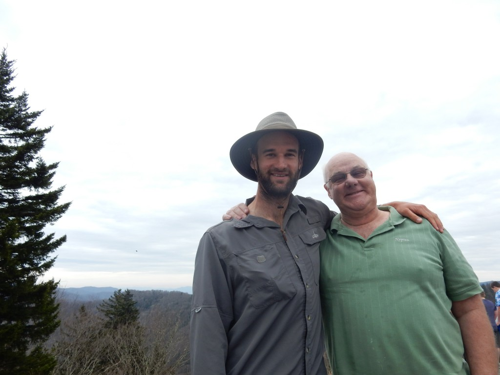 Newfound Gap, Andrew & his dad, John