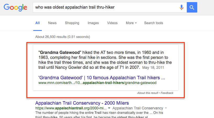 grandma gatewood oldest hiker