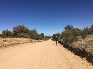 The four mile dirt road walk.
