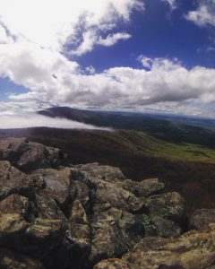 When the clouds cleared in the Shenandoahs.