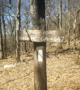 Quarter way point trail marker