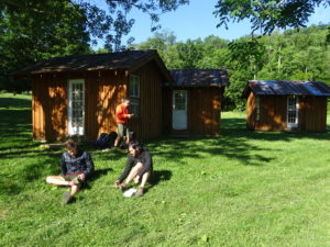 Little cabins where we spent the night with Twelve Tribes