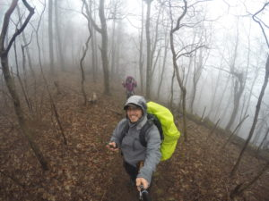 Rainy day, still trekking