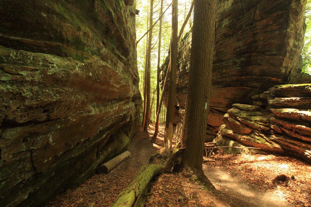 Hocking State Forest Balanced Rock Buckeye Trail