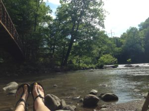 Chilling at the Ten Mile River Mile 1458.1